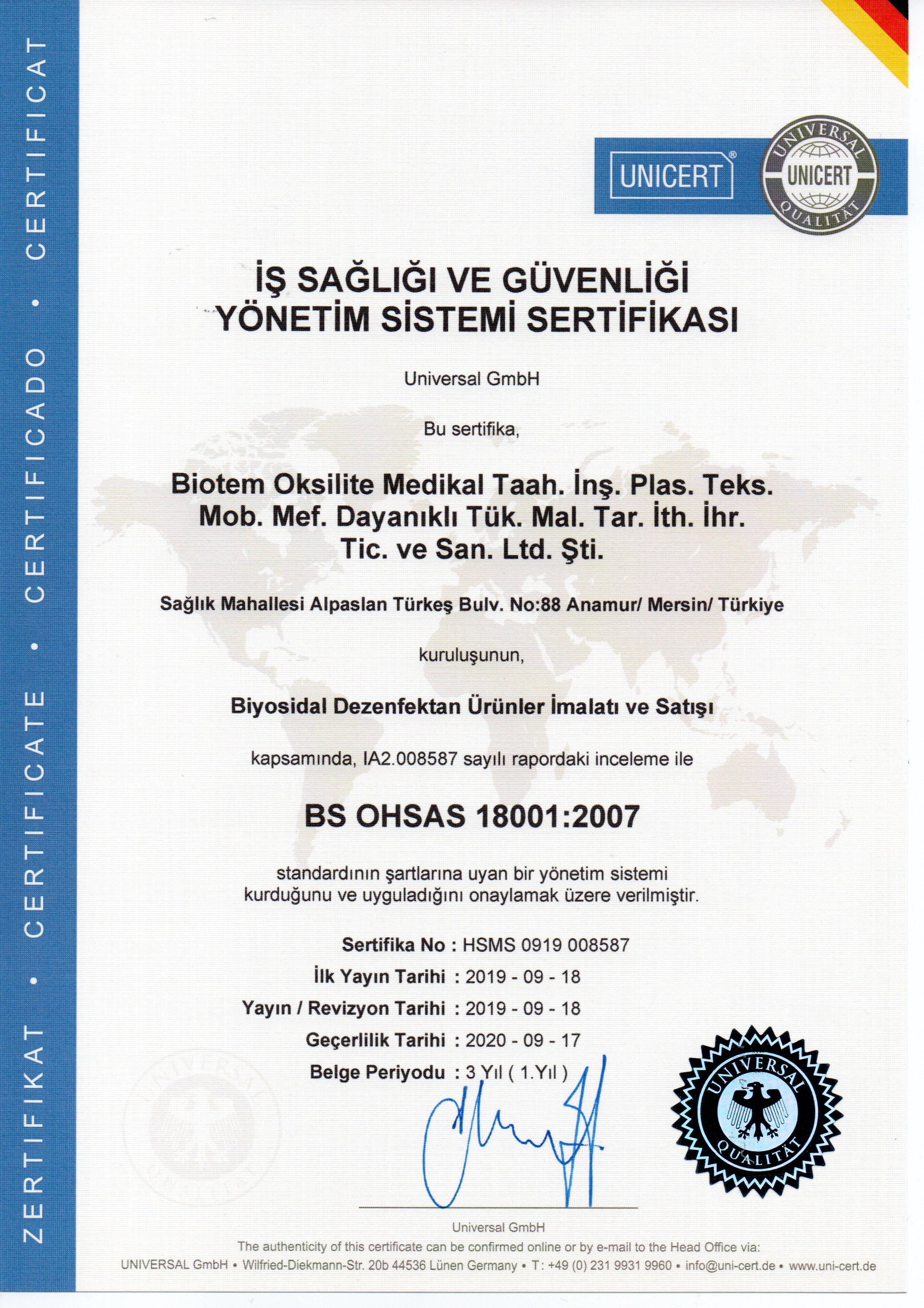 S12-OHSAS 18001